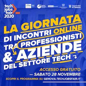 Va online il TECH JOBS fair Genova del 28 novembre